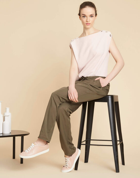 Jane flowing khaki trousers (2) - 1-2-3
