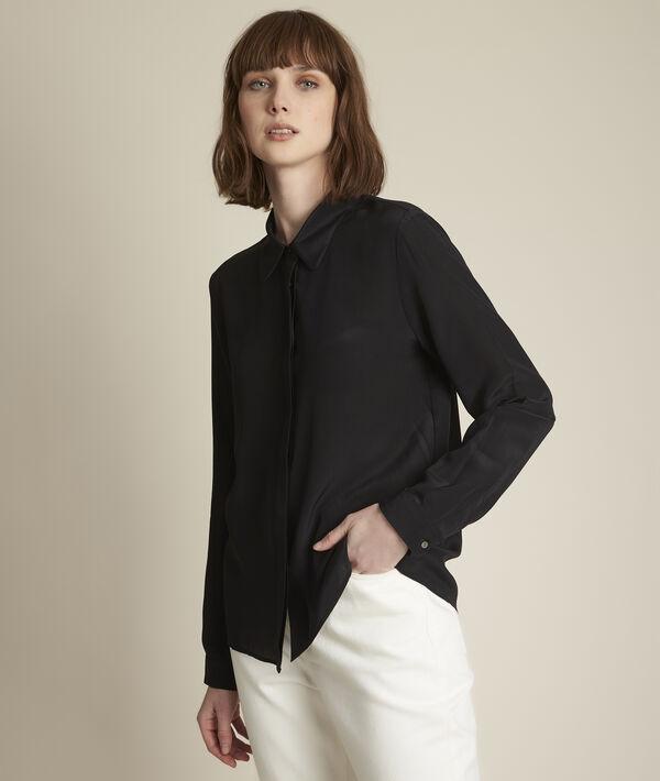 Zwart zijden hemd Maelle PhotoZ | 1-2-3