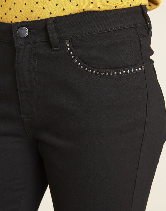 Victor black flared jeans with studded detailing on the pockets (3) - 1-2-3