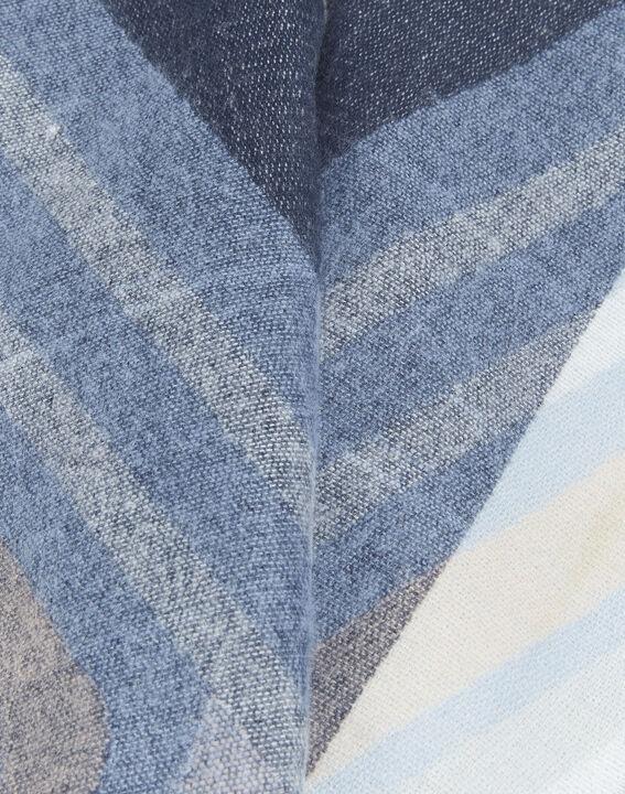 Donkerblauwe sjaal met motiefjes Fabien (2) - 37653