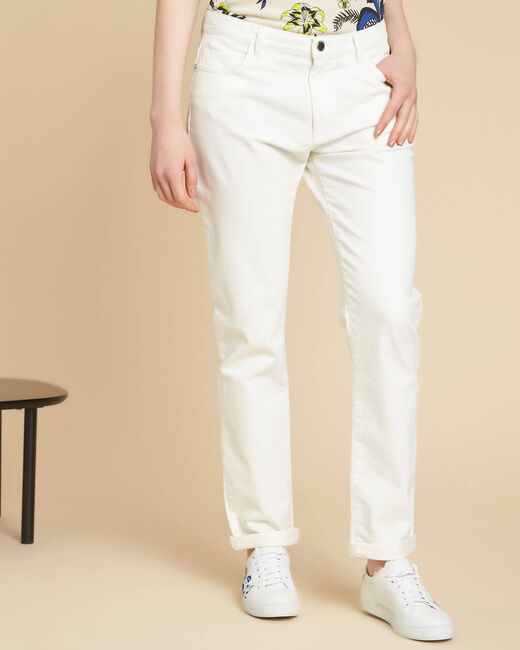 Vavin low-waisted white boyfriend jeans (2) - 1-2-3
