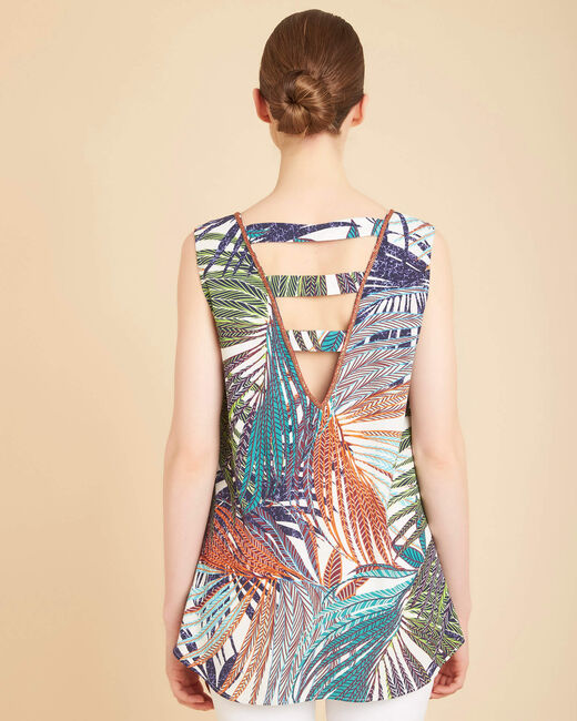 Galaxie palm printed multi-coloured top (2) - 1-2-3