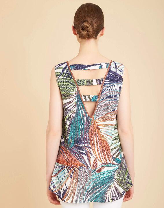 Galaxie palm printed multi-coloured top (3) - 1-2-3