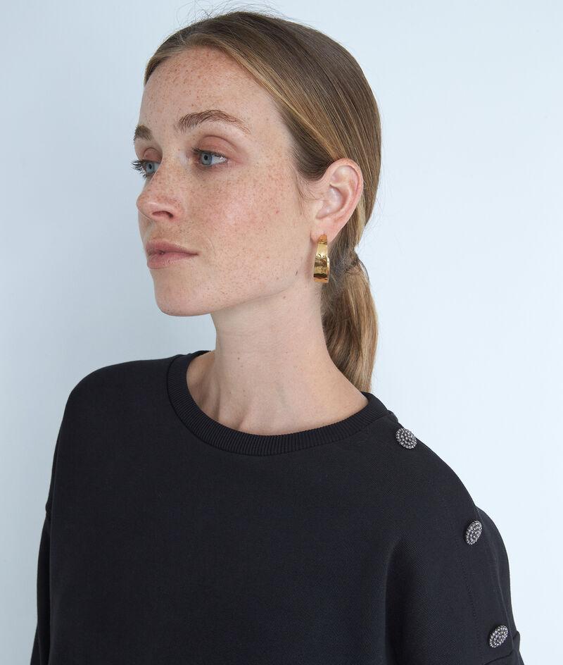 Sweat en coton avec détails boutons noir Evita PhotoZ | 1-2-3