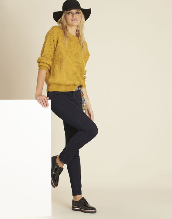 Bardot yellow sweater with decorative polka dots (2) - 1-2-3