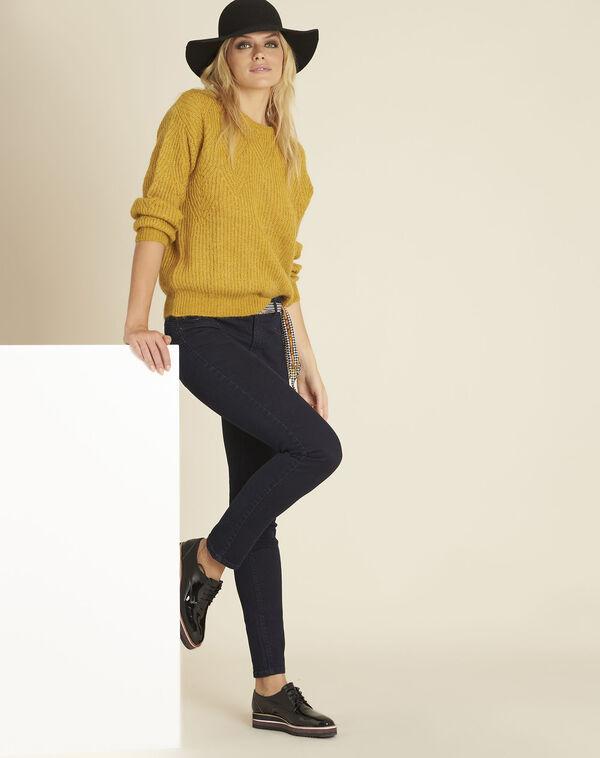 Gele trui met fantasiesteek Bardot (2) - 37653