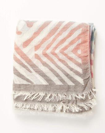 Alambra multicoloured striped scarf blue.