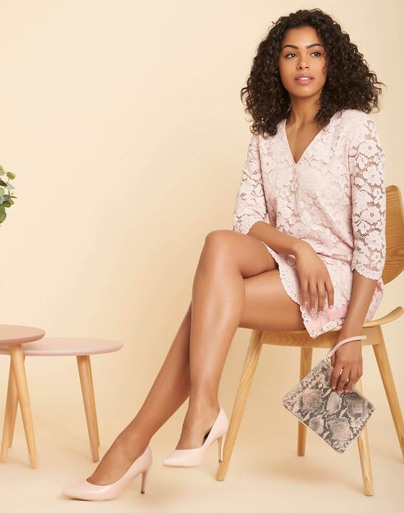 Poesie nude lace dress with side strip (2) - 1-2-3