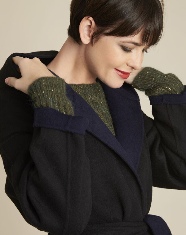 Manteau noir réversible bleu en laine Elan (2) - 1-2-3