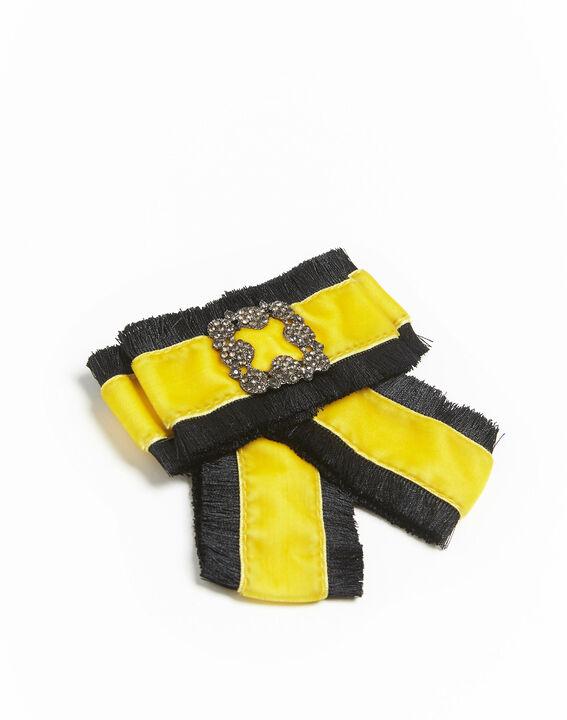 <br />Barock-Brosche als gelbe Samtschleife Xavière (2) - 1-2-3