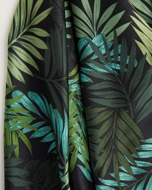 Carré de soie imprimé fleur vert Adélie (2) - 1-2-3