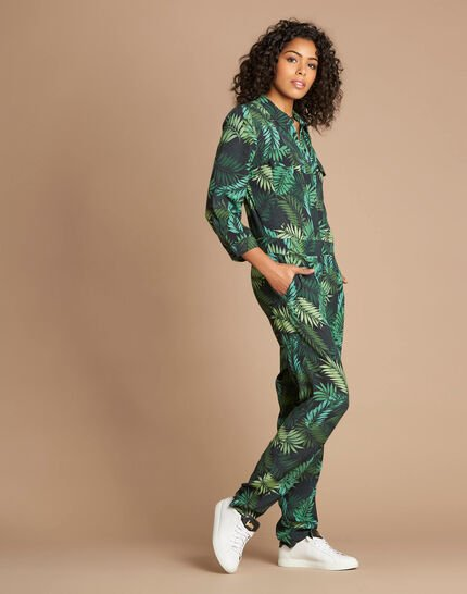 Pacome palm-printed jumpsuit (3) - 1-2-3
