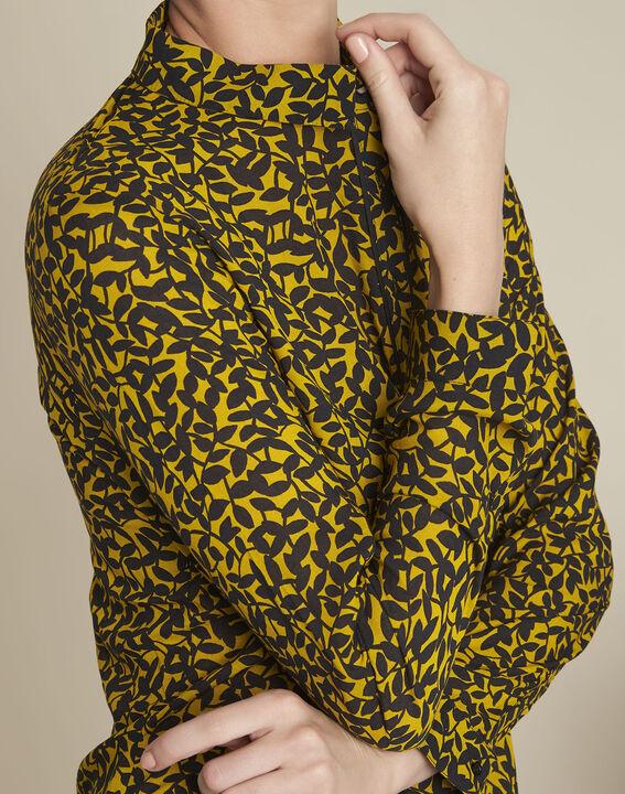 Geel overhemd met bladerenprint Ravel (3) - 37653