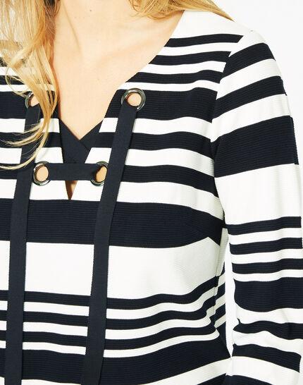 Tee-shirt manches 3/4 rayé Boréal (4) - 1-2-3