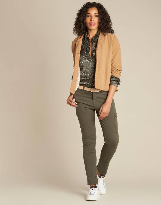 Damien 7/8 length khaki safari trousers (2) - 1-2-3