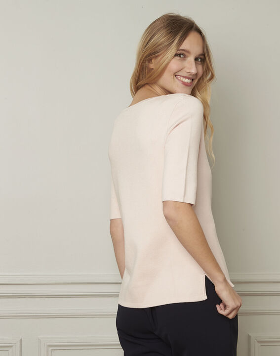 Abricot powder pullover with compact eyelets  (3) - Maison 123