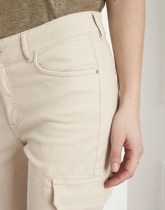 Pantalon crème cargo Carolina (3) - Maison 123