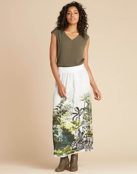 Lucius long jungle print skirt (2) - 1-2-3