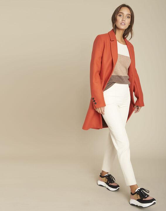 Manteau en laine tomette Plume PhotoZ   1-2-3