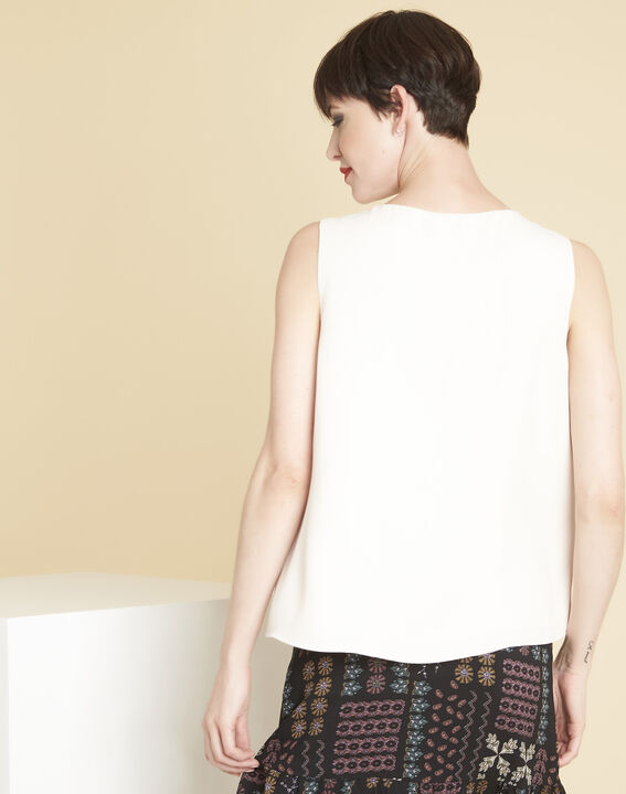 Fanette nude top with jewelled neckline (4) - 1-2-3