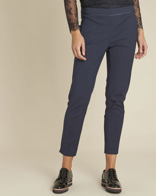 Pantalon marine slim compacte Holly (2) - 1-2-3