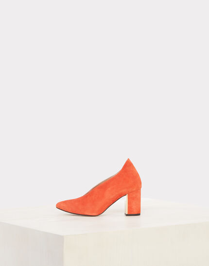 Escarpins orange en cuir Naomi (4) - 1-2-3