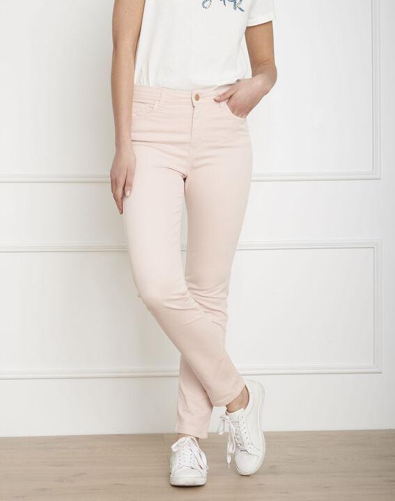 Jeans in hellem Pink aus Baumwollsatin im Slim-Schnitt Vendome (1) - Maison 123
