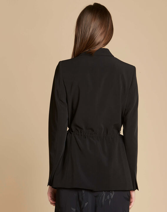 Chiara black jacket with collar and bow (4) - 1-2-3