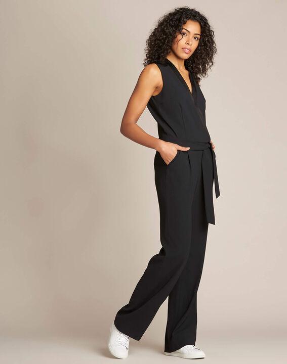 Gloria tuxedo-style black jumpsuit (3) - 1-2-3