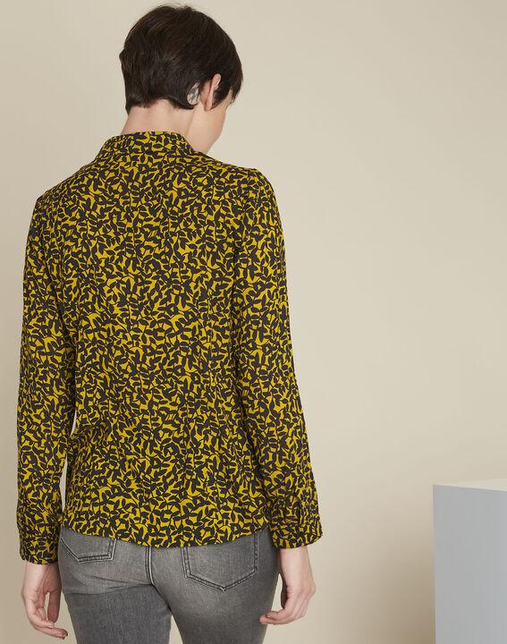 Ravel yellow leaf print shirt (4) - 1-2-3