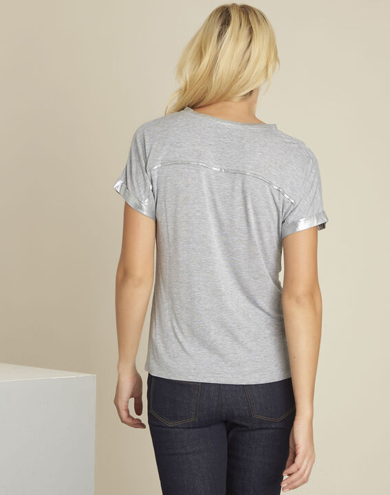 Glitter grey t-shirt with shoulder detailing (4) - Maison 123