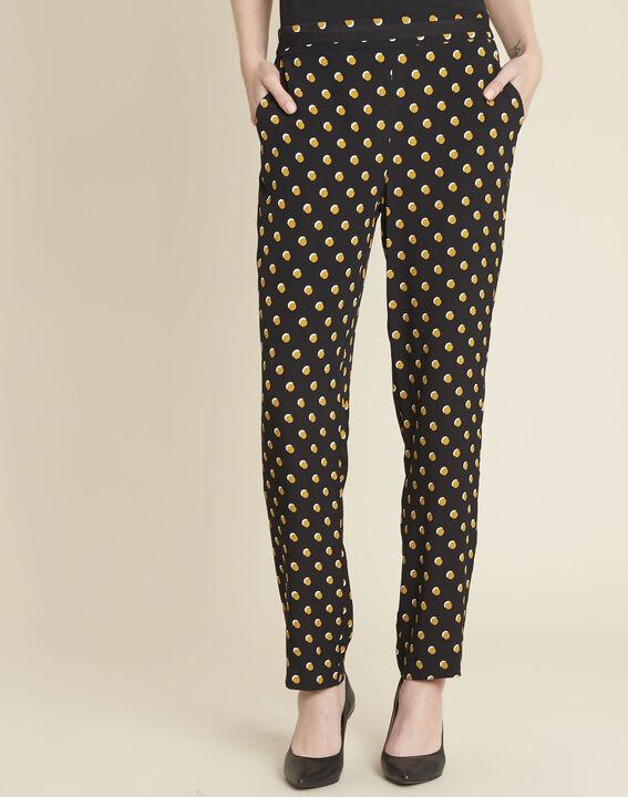 Pantalon noir à pois jaunes Hypso PhotoZ | 1-2-3