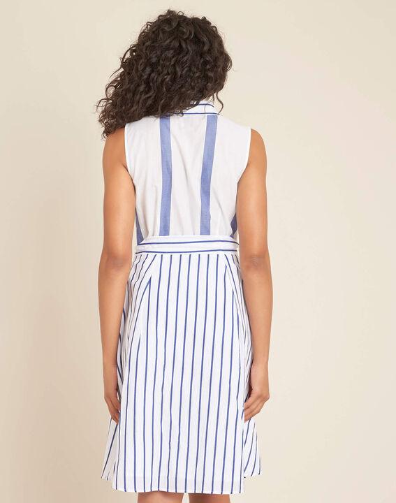 Kleid mit blauen Streifen Polka (4) - 1-2-3