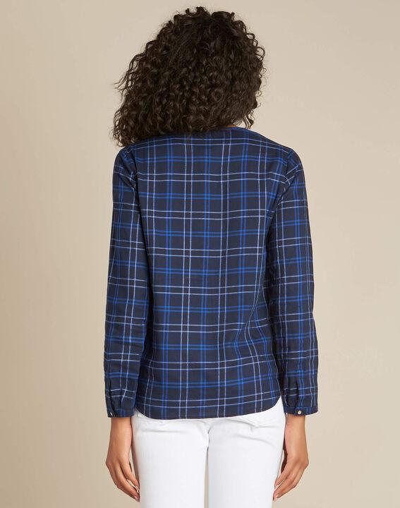 Murielle navy blue check shirt (4) - 1-2-3