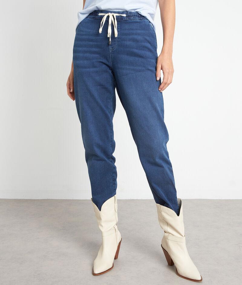 Pantalon sportwear en denim bleu Noor PhotoZ | 1-2-3