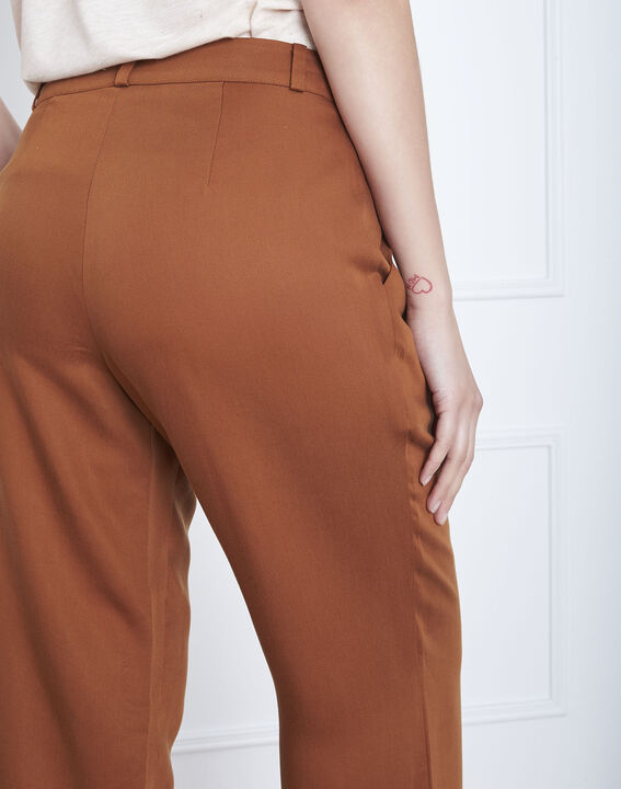 Pantalon marron large Giovanni (4) - Maison 123