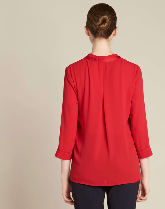 Elea red blouse with romantic neckline (4) - 1-2-3