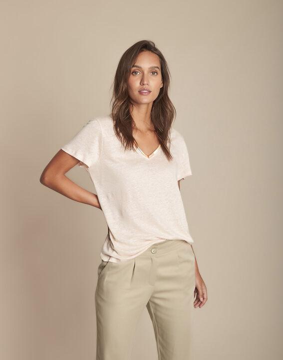 Tee-shirt rose en lin Capri PhotoZ | 1-2-3