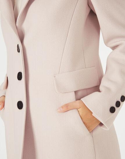 Puderfarbener Mantel aus Woll-Mix Plume (3) - 1-2-3