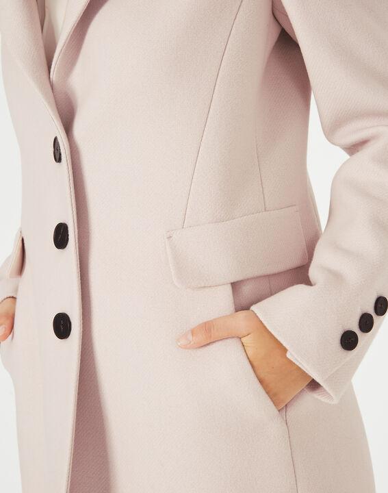 Manteau poudre en laine mélangée Plume (3) - 1-2-3