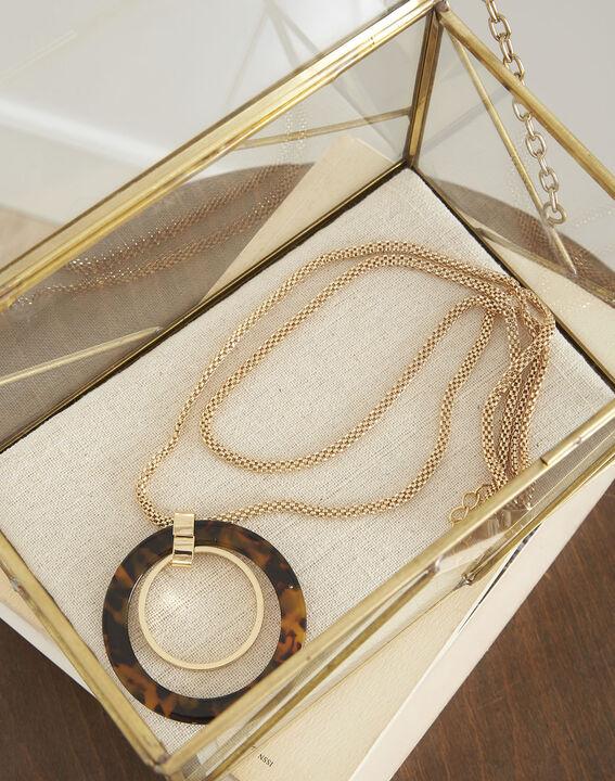 Sautoir doré pendentif écaille Tournesol PhotoZ   1-2-3