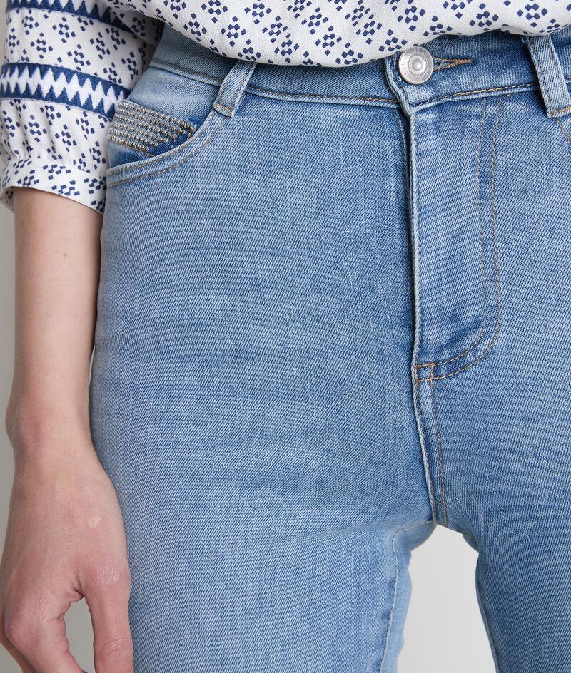 Jean slim en coton pure bleached et détails cloutés Naty PhotoZ | 1-2-3