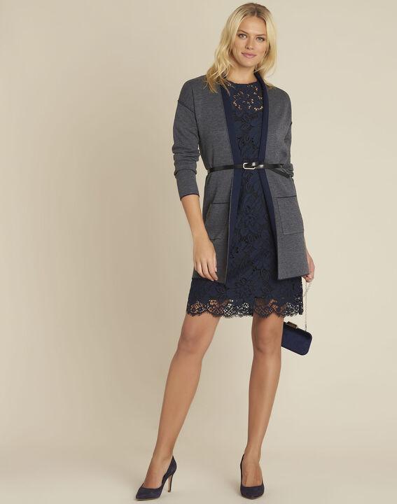 Donkerblauwe kanten jurk Nida (3) - 37653
