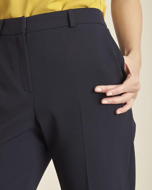 Pantalon marine large 7/8 en microfibre Hermane (2) - 1-2-3