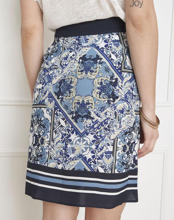 Jupe bleue imprimé foulard Stormy (4) - Maison 123