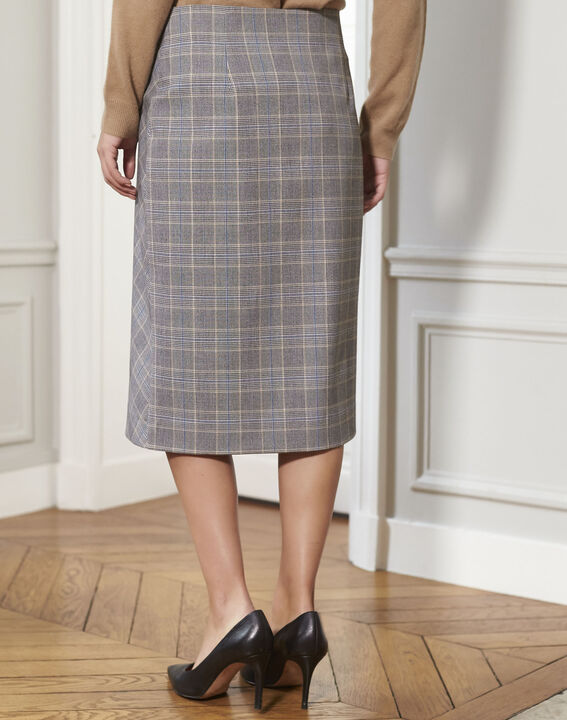 Amanda wraparound skirt with Prince of Wales check pattern (4) - 1-2-3