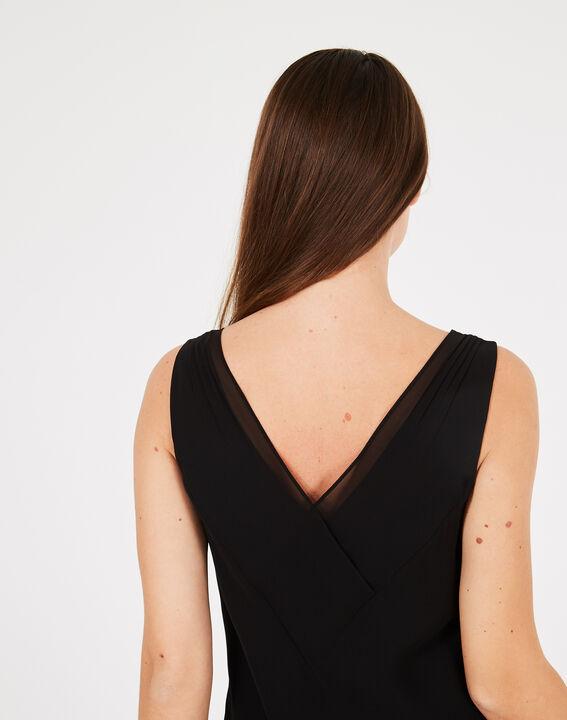Schwungvolles langes schwarzes Kleid Foret (4) - 1-2-3