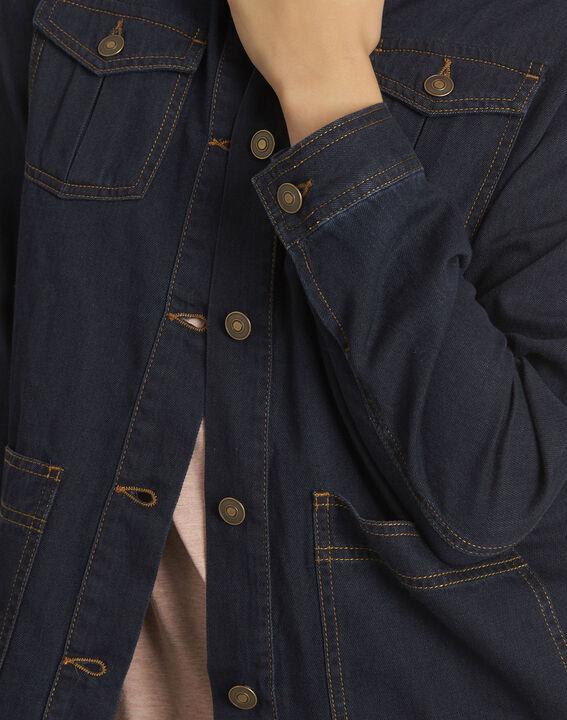 Veste en jean poches plaquées en coton Smile (3) - 1-2-3