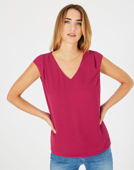 Tee-shirt fuchsia Neptune (2) - 1-2-3