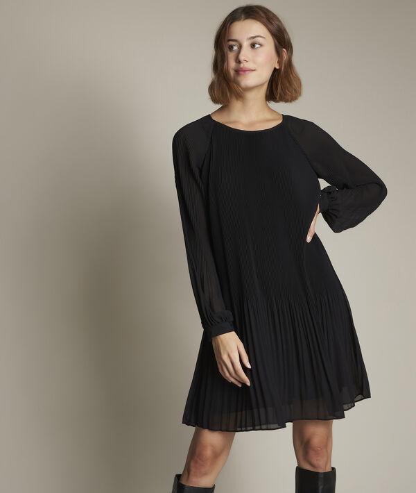 Robe noire plissée Carla PhotoZ | 1-2-3